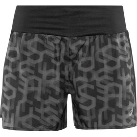 "asics 3,5"" Shorts Print Dames, hex type performance black"